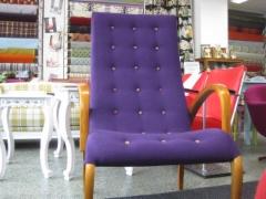 Harlekiini-tuoli,desing verhoilulla