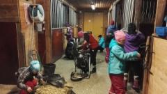 Hiihtolomaleiri 2018 valjaiden puhdistusta