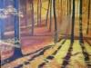 Metsän kultainen valo