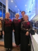 Ennen konsertti: Päivi, Anna-Liisa, Helena, Mirja