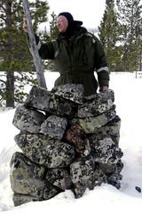 Vanha kivipyykki Ruotsin ja Venäjän valtarajalla Inarin Pakanavaarassa