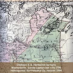 Osakopio S. G. Hermelin Länsipohjan kartasta v:lta 1796.