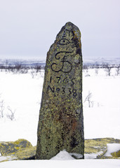 Enontekio, Palokorsa. RM 338 sydänkivi Norjasta, VVV.