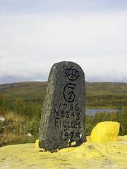 RM 343 sydänkivi Norjan puolelta.