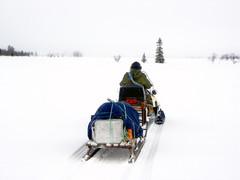 Tunturisumua työntyy Koutokeinojängän talvitielle