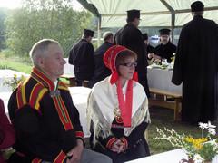 Kolttajuhlat 2009, Nellim; edessä Anu Avaskari ja Antero Sarre, VVV.