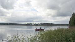 Ylitornio, Vähä Lohijärvi. Näkymä Purusniemen suunnalta Holsterinniemeen, VVV.