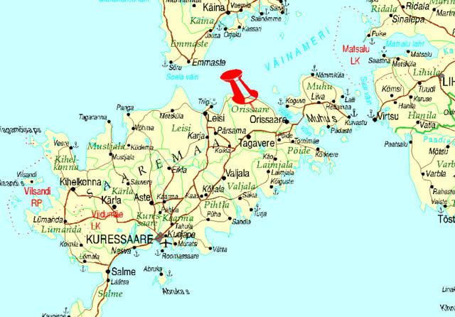 Kartta, Saarenmaa