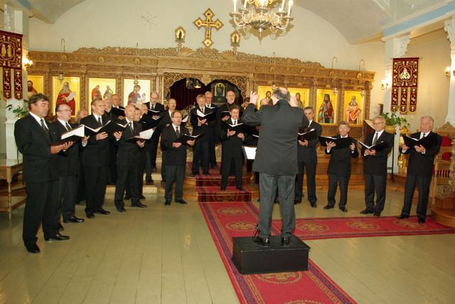 Joensuun ortodoksisen mieskuoron vierailu