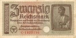 Zwanzig Reichsmark 20 L 9060176