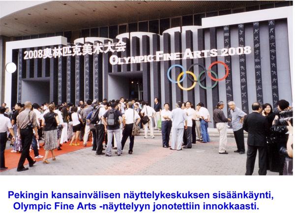 Olympic Fine Arts -näyttelyyn jonotettiin.