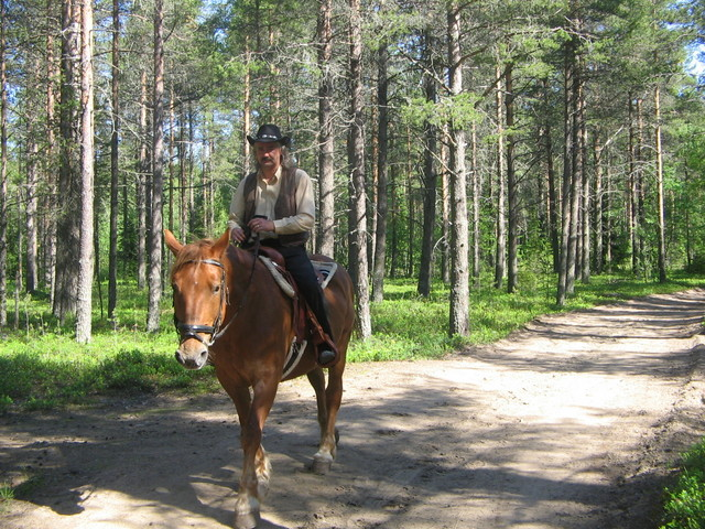 maastossa  cowboy