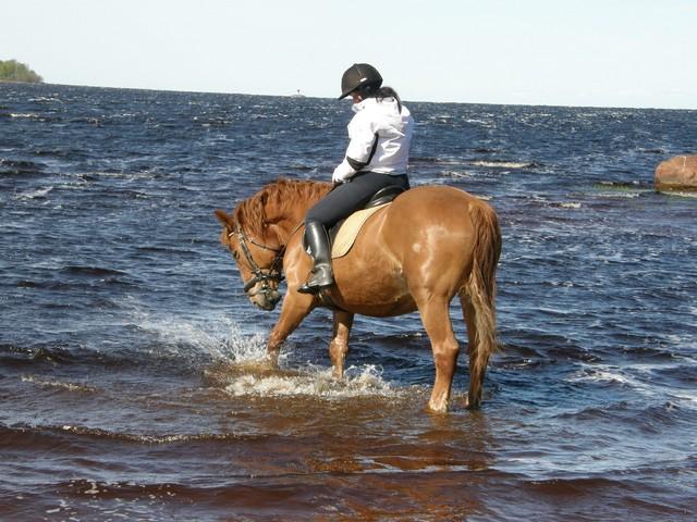 eka kerta meressä tälle kesää :)